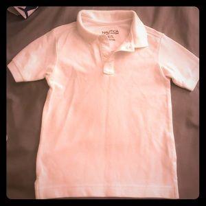 White polo uniform shirt